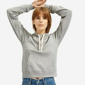 EVERLANE Classic French terry cropped hoodie XS